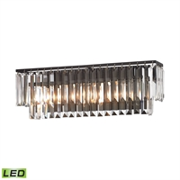 Picture for category Elk 15222/3-LED Palacial Vanity Lighting 27in Bronze Tones Metal Crystal