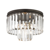 Picture for category Elk 15223/1 Palacial Semi Flush 12in Bronze Tones Metal Crystal 1-light