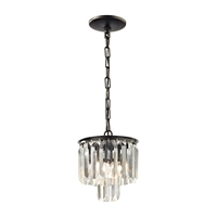 Picture for category Pendants 1 Light With Oil Rubbed Bronze Finish Clear Crystal Candelabra 8 inch 60 Watts - World of Lamp