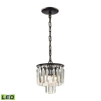 Picture for category Pendants 1 Light LED With Oil Rubbed Bronze Finish Clear Crystal Candelabra 8 inch 5 Watts - World of Lamp