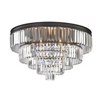 Picture for category Elk 15226/6 Palacial Chandeliers 31in Bronze Tones Metal Crystal 6-light