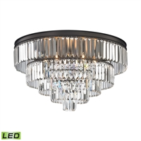 Picture for category Elk 15226/6-LED Palacial Chandeliers 31in Bronze Tones Metal Crystal 6-light