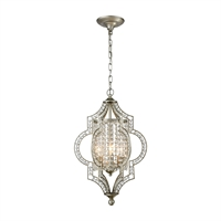 Picture for category Elk 16270/3 Gabrielle Chandeliers 14in Silver Tones Metal Crystal 3-light