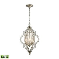 Picture for category Elk 16270/3-LED Gabrielle Chandeliers 14in Silver Tones Metal Crystal 3-light