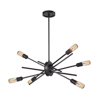 Picture for category Elk 66913/6 Xenia Chandeliers 18in Bronze Tones Metal 6-light