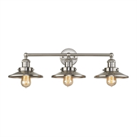 Picture for category Elk 67172/3 English Pub Vanity Lighting 28in Nickel Tones Metal 3-light