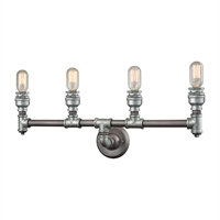 Picture for category Elk 10685/4 Cast Iron Pipe Vanity Lighting 28in Weathered Zinc zinc Plating