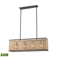 Picture for category Elk 57028/4-LED Diffusion Chandeliers 9in Bronze Tones Metal Glass Fabric