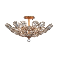 Picture for category Elk 11933/8 Evolve Semi Flush 24in Gold Tones Metal Crystal 8-light