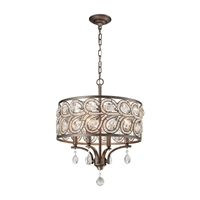 Picture for category Elk 11934/4 Evolve Chandeliers 17in Weathered Zinc Metal Crystal 4-light