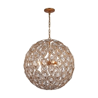 Picture for category Elk 11936/8 Evolve Chandeliers 21in Gold Tones Metal Crystal 8-light
