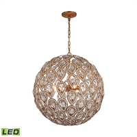 Picture for category Elk 11936/8-LED Evolve Chandeliers 21in Gold Tones Metal Crystal 8-light
