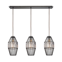 Picture for category Elk 14248/3LP Yardley Pendants 36in Bronze Tones Metal Crystal 3-light