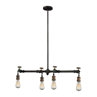 Picture for category Elk 14288/4 Jonas Chandeliers 10in Weathered Multitone Metal 4-light