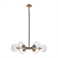 Picture for category Elk 14432/6 Boudreaux Chandeliers 28in Black Tones Metal Glass 6-light