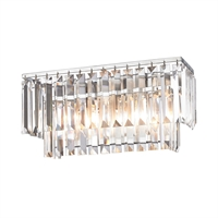 Picture for category Elk 15211/2 Palacial Vanity Lighting 15in Chromes Tones Metal Crystal 2-light