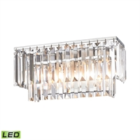 Picture for category Elk 15211/2-LED Palacial Vanity Lighting 15in Chromes Tones Metal Crystal