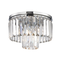 Picture for category Elk 15213/1 Palacial Semi Flush 12in Chromes Tones Metal Crystal 1-light