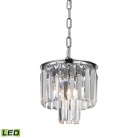 Picture for category Elk 15214/1-LED Palacial Pendants 8in Chromes Tones Metal Crystal 1-light