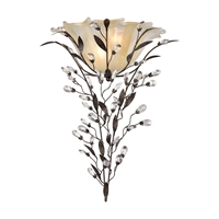 Picture for category Elk 18129/2 Circeo Wall Sconces 17in Deep Rust Metal Crystal Glass 2-light