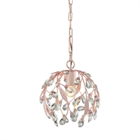 Picture for category Elk 18150/1 Circeo Pendants 10in Light Pink Metal Crystal 1-light