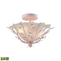 Picture for category Elk 18151/2-LED Circeo Semi Flush 17in Light Pink Metal Crystal Glass 2-light