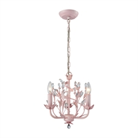 Picture for category Elk 18152/3 Circeo Chandeliers 13in Light Pink Metal Crystal 3-light
