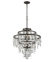 Picture for category Troy F3807 Chandelier Bistro Graphite Antique Pewter Hand Iron 6 Lights 28 inch