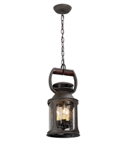 Picture for category Troy F4517 Pendants Old Trail Solid Aluminum Candelabra Base 180 W 3 Light 8 in