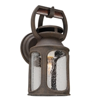 Picture for category Troy B4511 Wall Lantern Old Trail Centennial Rust Solid Aluminum 1Light 14 inch