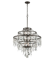 Picture for category Troy F3809 Chandeliers Bistro Graphite With Antique Pewter Iron 9 Light 33 inch
