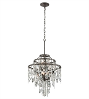 Picture for category Troy F3806 Chandelier Bistro Graphite Antique Pewter Hand Iron 6 Lights 23 inch