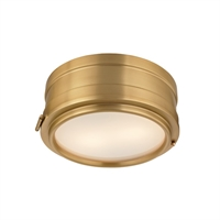 Picture for category Hudson Valley 2311-AGB Timeless Elegance Flush Mounts Brass Tones 2-light