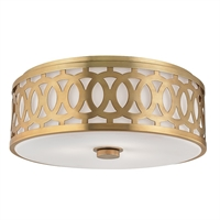 Picture for category Hudson Valley 4317-AGB Classic Heritage Flush Mounts Brass Tones 3-light