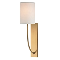 Picture for category Hudson Valley 731-AGB Timeless Elegance Wall Lantern 5in Brass Tones 1-light