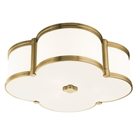 Picture for category Hudson Valley 1216-AGB Timeless Elegance Flush Mounts Brass Tones 3-light
