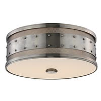 Picture for category Hudson Valley 2206-HN Chic Vintage Flush Mounts Nickel Tones 3-light