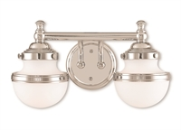 Picture for category Livex Lighting 5712-05 Bath Lighting 15in Chromes Tones Steel 2-light