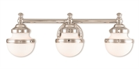 Picture for category Livex Lighting 5713-05 Bath Lighting 24in Chromes Tones Steel 3-light