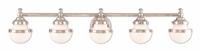 Picture for category Livex Lighting 5715-05 Bath Lighting 43in Chromes Tones Steel 5-light