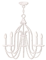 Picture for category Livex Lighting 40795-60 Chandeliers White Steel 5-light