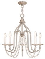 Picture for category Livex Lighting 40795-91 Chandeliers Nickel Tones Steel 5-light