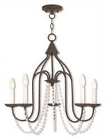 Picture for category Livex Lighting 40795-92 Chandeliers Bronze Tones Steel 5-light
