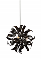 Picture for category Artcraft AC606BK Belair Pendants 13in Metallic Black Alumnium 3-light