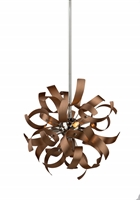 Picture for category Artcraft AC606CO Belair Pendants 13in Copper Alumnium 3-light