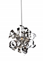 Picture for category Artcraft AC606CH Belair Pendants 13in Chrome Alumnium 3-light