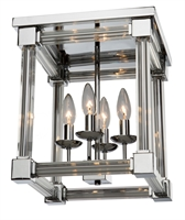 Picture for category Artcraft CL15075CH Prince Arthur Flush Mounts 12in Chrome Clear Glass Columns