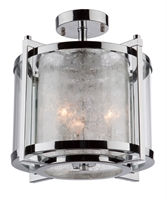 Picture for category Artcraft AC10804CH Crackled Ice Semi Flush 13in Chrome 3-light