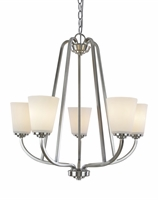Picture for category Artcraft AC10465BN Hudson Chandeliers 25in Brushed Nickel 5-light