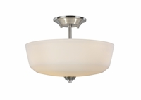 Picture for category Artcraft AC10468BN Hudson Semi Flush 15in Brushed Nickel 3-light